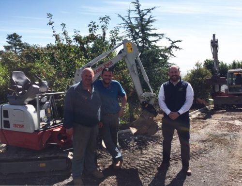 Nuevo enganche hidráulico Geith de 1-2 toneladas para Mark Pike Groundworks
