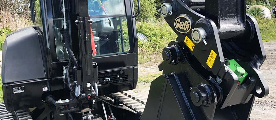 Geith Mechanical Quick Coupler on Yanmar Excavator